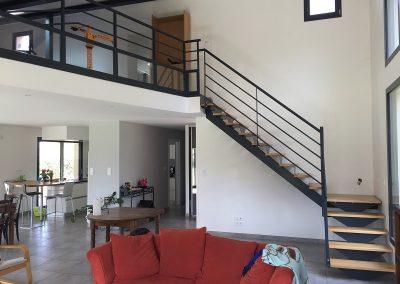 escalier bois et métal à Colomiers